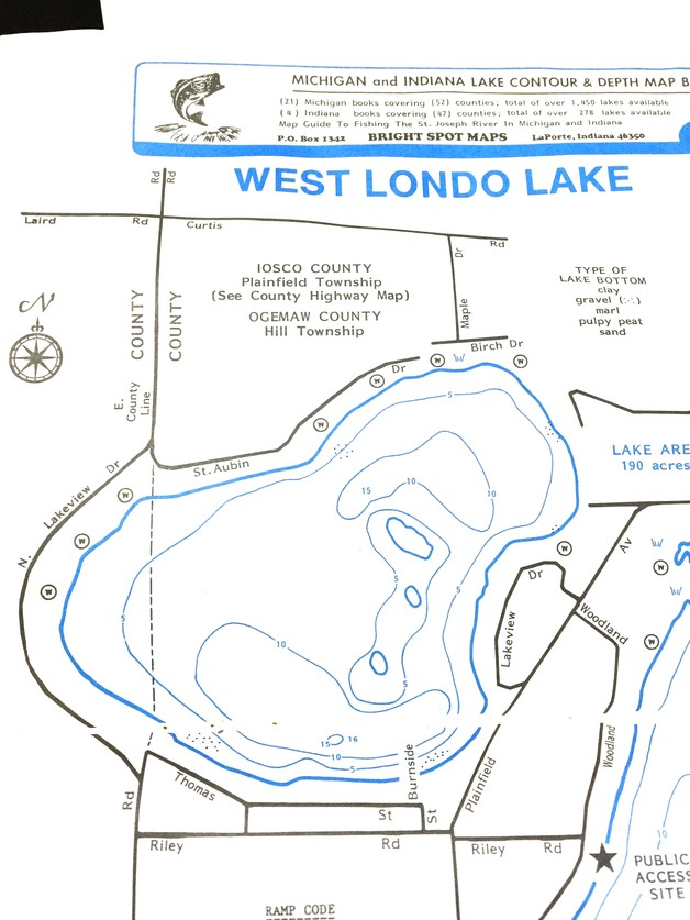 Hale Michigan Lakes Londo Lake Association Lake Maps